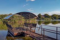 Понтонная беседка на озере в х.Ленинован 2016